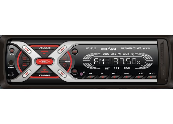 Mikado MC-5518 MP3 Oynatıcı + FM Radyo Uzaktan Kumandalı Oto Teyp