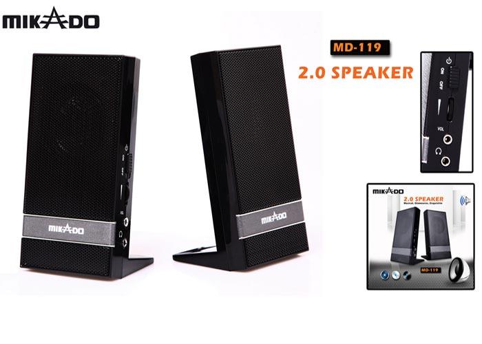 Mikado MD-119 2.0 Siyah USB Speaker