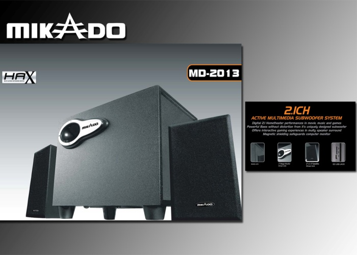 Mikado MD-2013 2+1 Usb+SD Destekli Speaker
