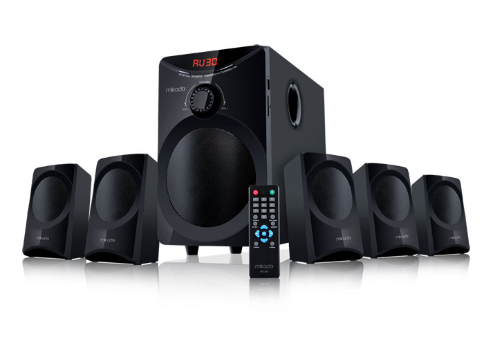 Mikado MD-353 5+1 Usb+SD+FM Supported Multimedia Speaker
