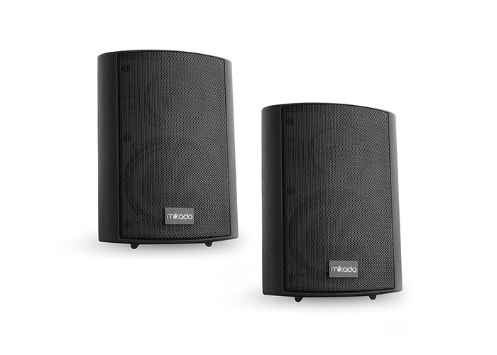 Mikado MDK103-5 5 -12.7cm 10W Max: 60W 8 ohm Indoor Black 2x Wall Speaker