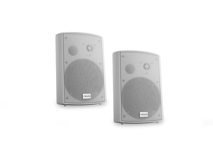 Mikado MDK106-4TA 4 -10.1cm 10W Max: 50W 100V + 8ohm White 2x Wall Speaker