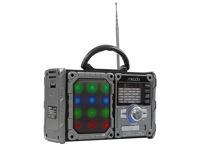 Mikado MDR-9BT Serenad-K Siyah/Kırmızı Usb-TF Destekli Bluetooth FM-AM*SW 3 BAND Klasik Radyo