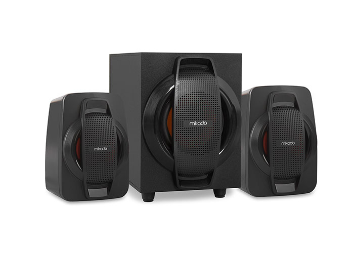 Mikado MD-107U 2 + 1 Black Usb + Fm SupportedMultimedia Speaker