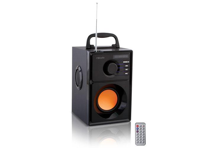 Mikado MD-10A 5W+2.5W*2 Black FM Radio Supported Bluetooth Speaker