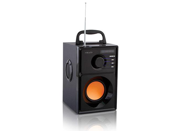 Mikado MD-10FM 5W+2.5W*2 Siyah FM Radyo Destekli Müzik Kutusu