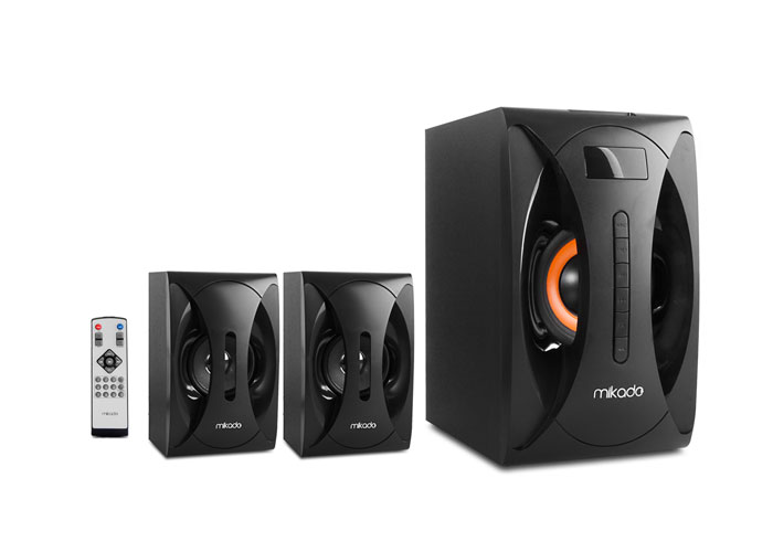 Mikado MD-1312 2+1 Black Usb+SD+Fm Supported Multimedia Speaker