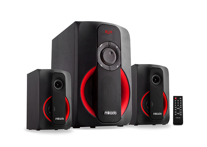 Mikado MD-1412 2+1 Black Usb+SD+Fm Supported Multimedia Speaker