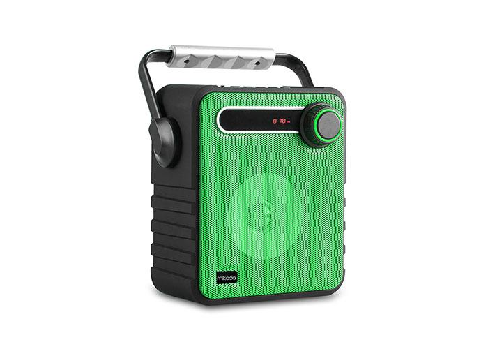 Mikado MD-1437 3W Black / Green Usb-TF-Fm Supported Bluetooth Portable Speaker
