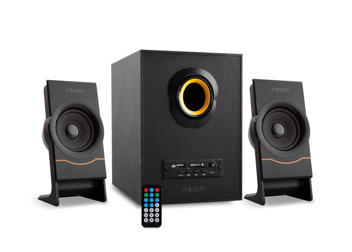 Mikado MD-1700 2+1 Black Usb+SD+Fm Supported Multimedia Speaker