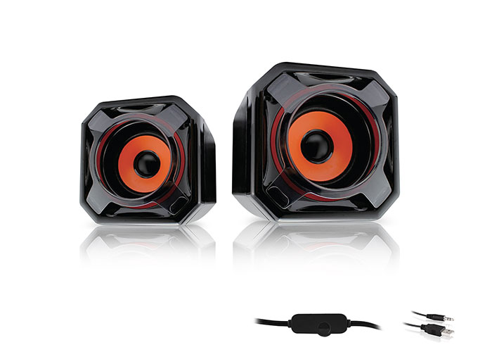 Mikado MD-177 2.0 5W * 2 Turuncu Mini USB Speaker