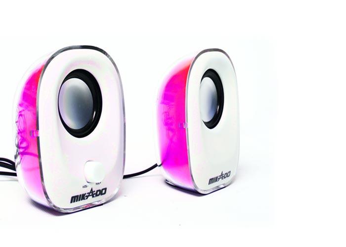Mikado MD-181 2.0 Pembe Ledli USB Speaker