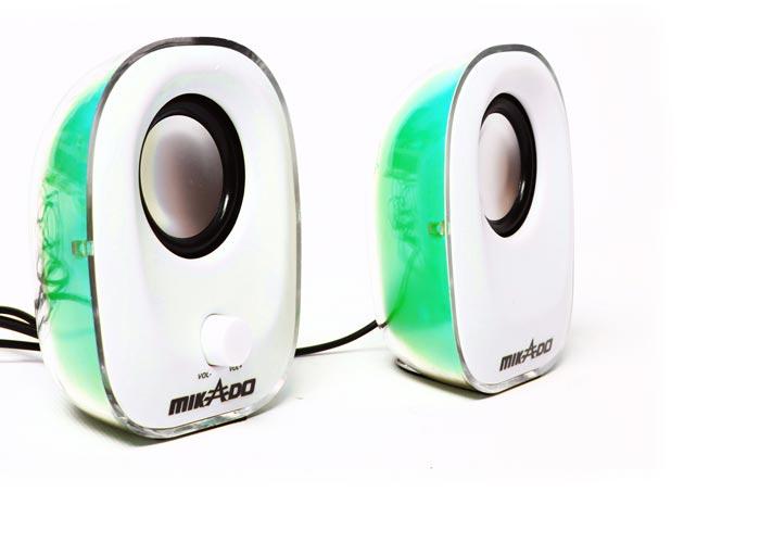 Mikado MD-181 2.0 Yeşil Ledli USB Speaker