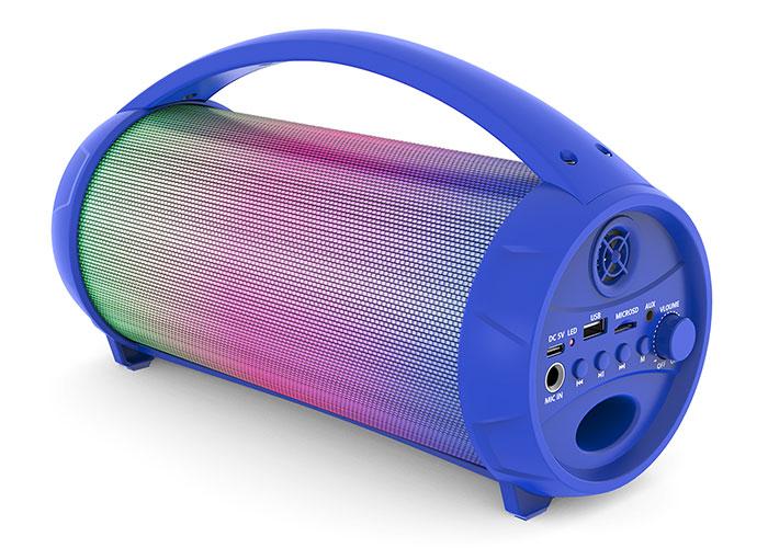 Mikado MD-193BT Mavi 1* 8W 1200mAh BT/ USB/TF/AUX/TWS/Işıklı Speaker