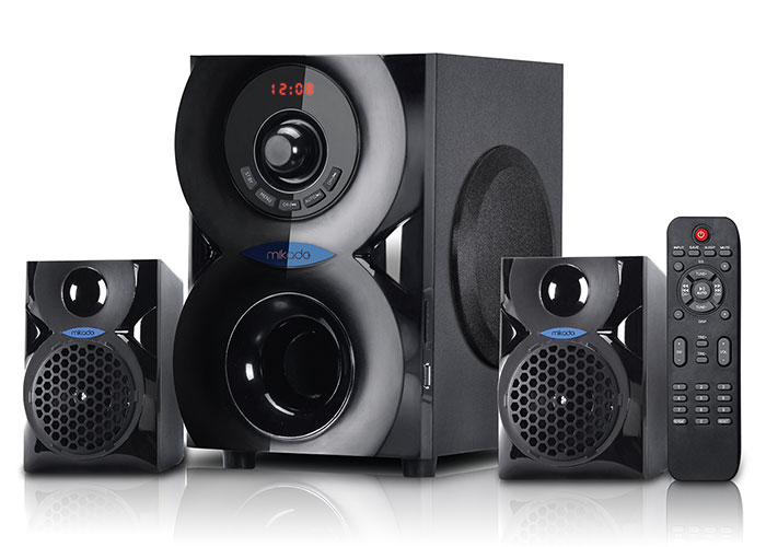 Mikado MD-201BT Siyah 2+1 Bluetooth USB+SD+FM+REMOTE CONTROL Speaker