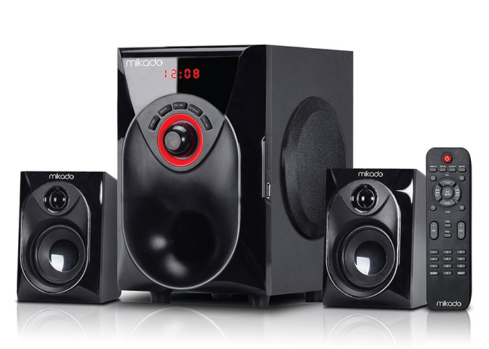 Mikado MD-206BT Siyah 2+1 Bluetooth USB+SD+FM+REMOTE CONTROL Speaker