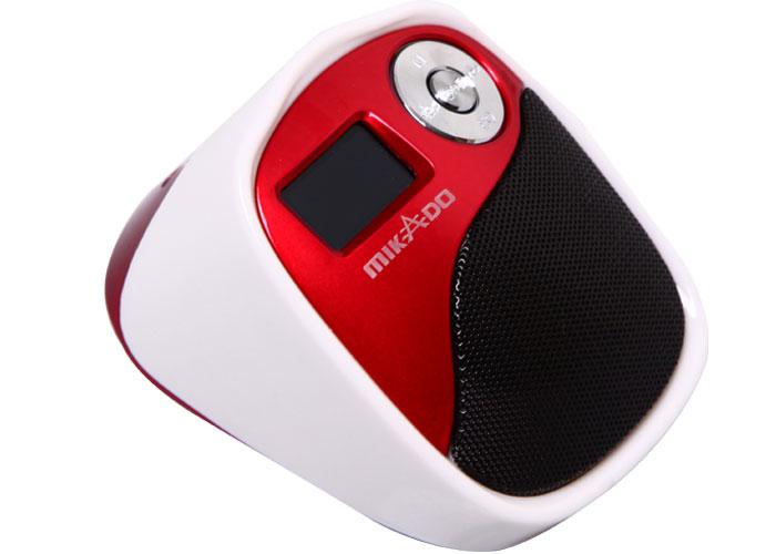 Mikado MD-207 Beyaz/Kırmızı Mikro SD+Fm destekli Mini Speaker