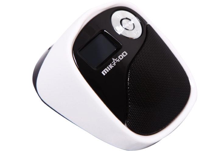 Mikado MD-207 Beyaz/Siyah Mikro SD+Fm destekli Mini Speaker