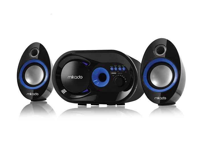 Mikado MD-209BT 2+1 Siyah Usb+TF+Fm Destekli Multimedia Bluetooth Speaker