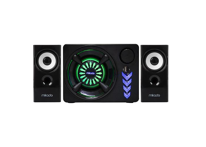 Mikado MD-219BT 2+1 10W+3Wx2 Siyah Usb+Tf Cart+FM+Bluetootk Speaker