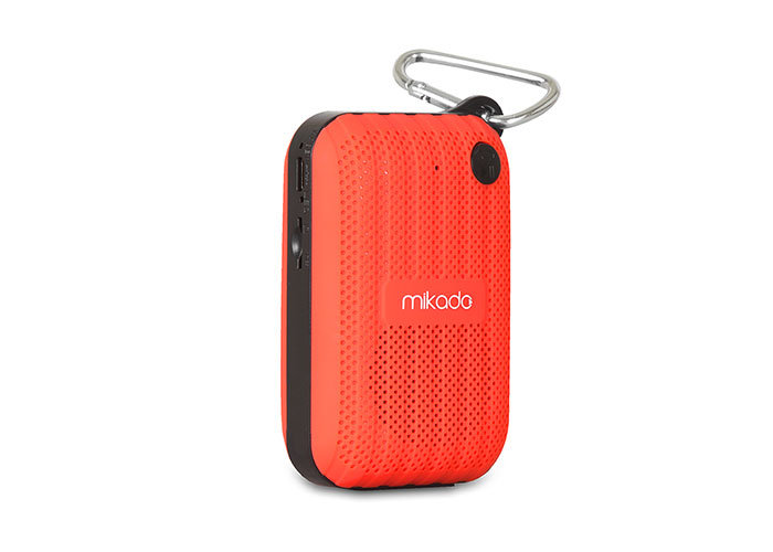 Mikado MD-22BT Kırmızı TF Kart+FM Destekli Bluetooth Şarjlı Speaker