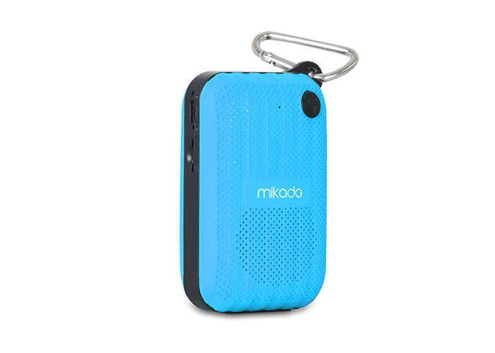 Mikado MD-22BT Blue TF Card + FM Supported Bluetooth Rechargeable Speaker