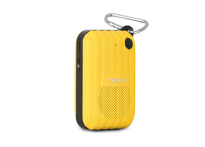 Mikado MD-22BT Yellow TF Card+FM Supported Bluetooth Rechargeable Speaker