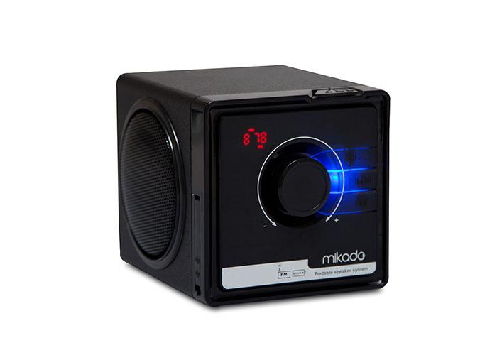 Mikado MD-236 3W+3W Black FM Radio Supported Music BOX