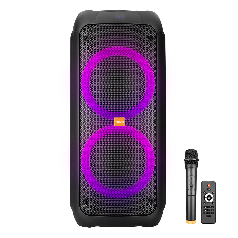 Mikado MD-245KP Siyah Usb+FM+Tf Kart+BT Destekli LED Işıklı Kablosuz Mikrafonlu Öğretmen/Toplantı Anfisi