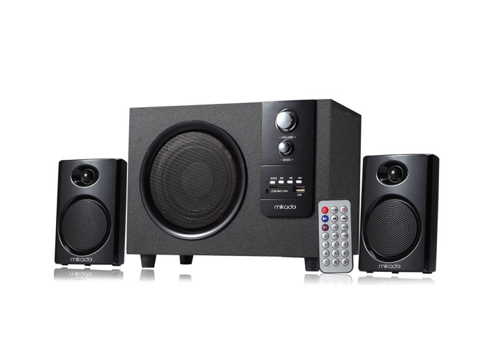 Mikado MD-329FM 2+1 10+2*5 Watts Siyah Usb+SD+Fm Destekli Multimedia Speaker