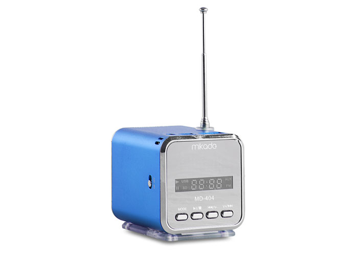 Mikado MD-404 Blue FM Radio Supported Music Box