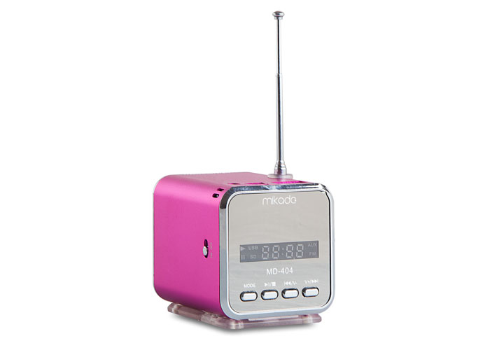 Mikado MD-404 Pink/Red FM Radio Supported Music Box