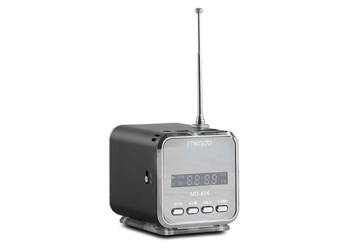 Mikado MD-404 Siyah FM Radyo Destekli Müzik Kutusu
