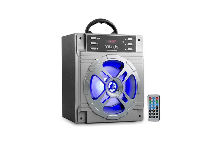 Mikado MD-455 10W Gri Usb+SD+Fm Destekli Bluetooth Müzik Kutusu