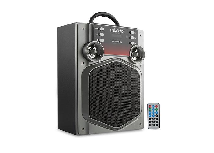 Mikado MD-466 15W Gri Usb+SD+Fm Destekli Bluetooth Müzik Kutusu