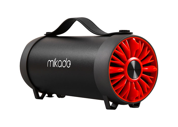 Mikado MD-54BT Gerçek 13W RMS USB+SD Süper Bass Bazuka Gövdeli Siyah-Kırmızı Bluetooth Speake