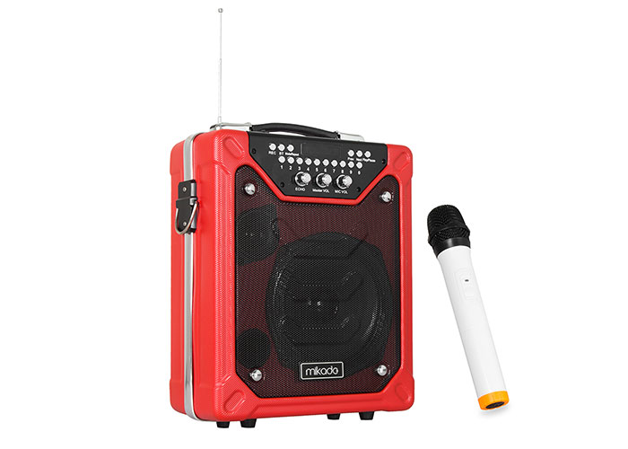 Mikado MD-55KP 60W Kırmızı Usb + FM Destekli Bluetooth Kablosuz Mikrofonlu Öğretmen/ Toplantı Anfisi