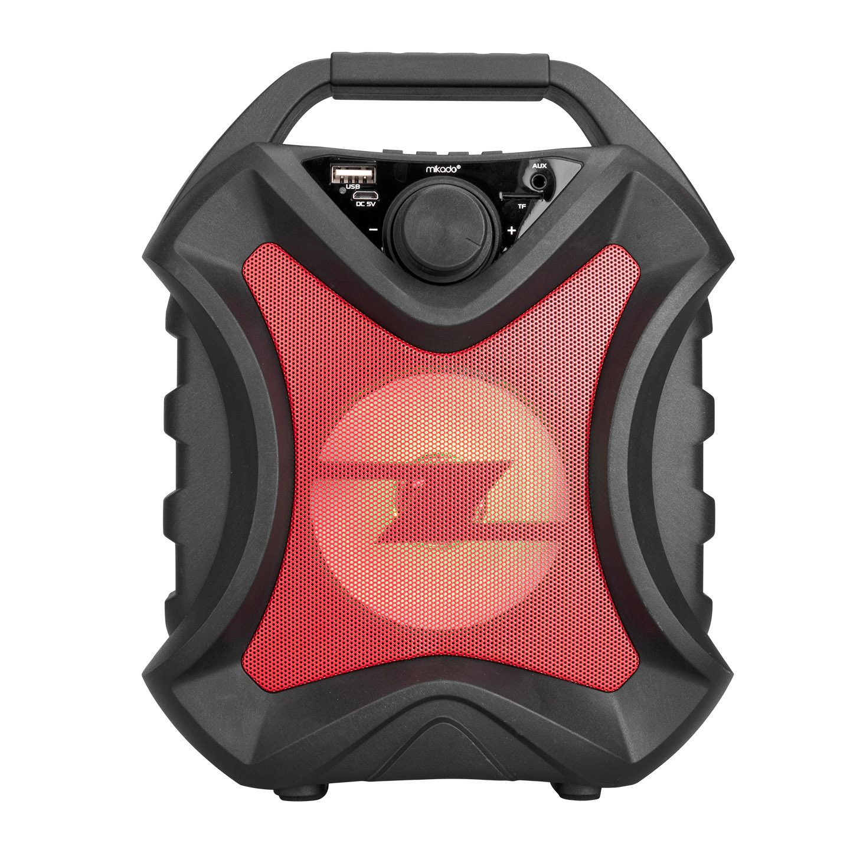 Mikado MD-5BT X-Life 5W 1200mAh Siyah/Kırmızı USB/SD Cart/Bluetooth Kablosuz MP3 Oynatıcı Hoparlör