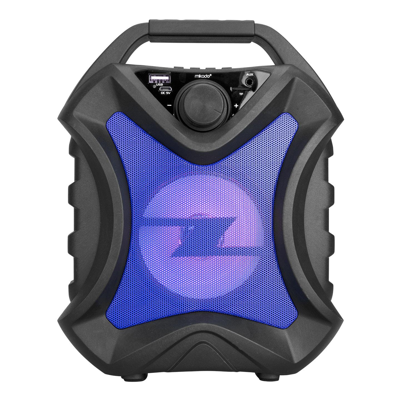 Mikado MD-5BT X-Life 5W 1200mAh Siyah/Mavi USB/SD Cart/Bluetooth Kablosuz MP3 Oynatıcı Hoparlör