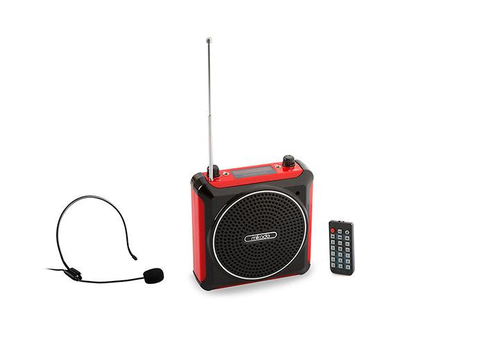 Mikado MD-661FM Kırmızı FM Destekli Öğretmen - Rehber Anfisi