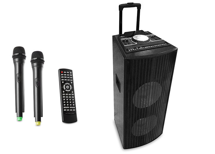Mikado MD-741BT 250W 2 pcs. Wireless Microphone Black Usb + SD + Fm LCD Display Meeting Concert Amplifier Multipurpose
