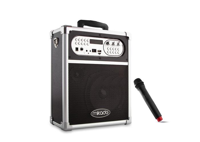 Mikado MD-78KP Siyah Usb + FM Destekli Bluetooth Kablosuz Mikrofonlu Öğretmen/Toplantı Anfisi