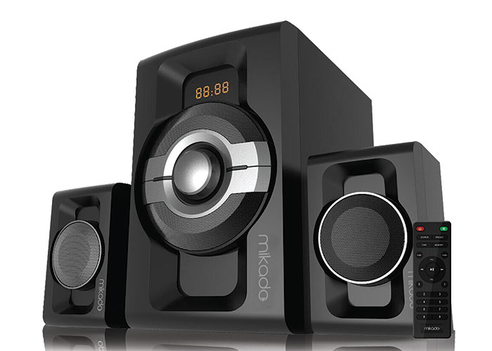 Mikado MD-854BT 2+1 30W+15WX2 Siyah Usb+SD+Fm+Bluetooth Destekli Speaker