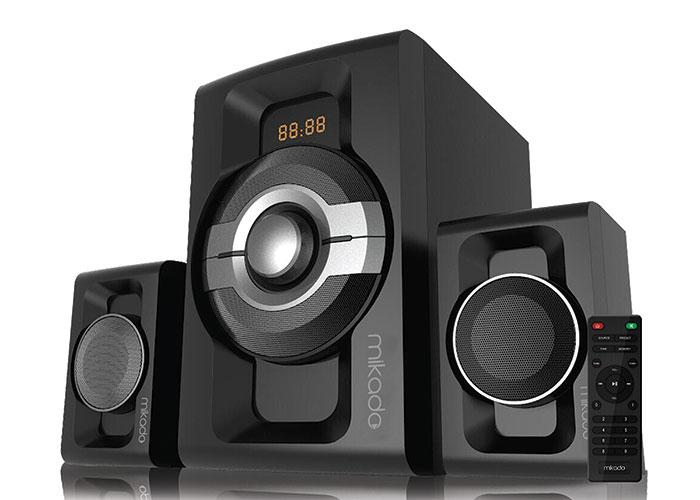 Mikado MD-854BT 2 + 1 30W + 15WX2 Black Usb + SD + Fm + Bluetooth Supported Speaker