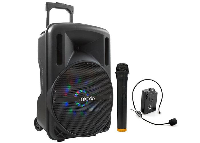 Mikado MD-85KP Siyah Usb+Tf Kart+Fm+Bluetooth Mikrafon+Kafa Kablosuz Mikrofonlu Toplatı Anfisi