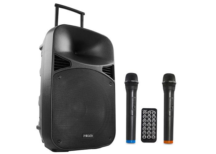 Mikado MD-99KP 15 2 Adet UHF Mikrofonlu 130W Bluetooth+Usb+Sd+Fm Destekli 38cm Kablosuz Toplantı Anfisi
