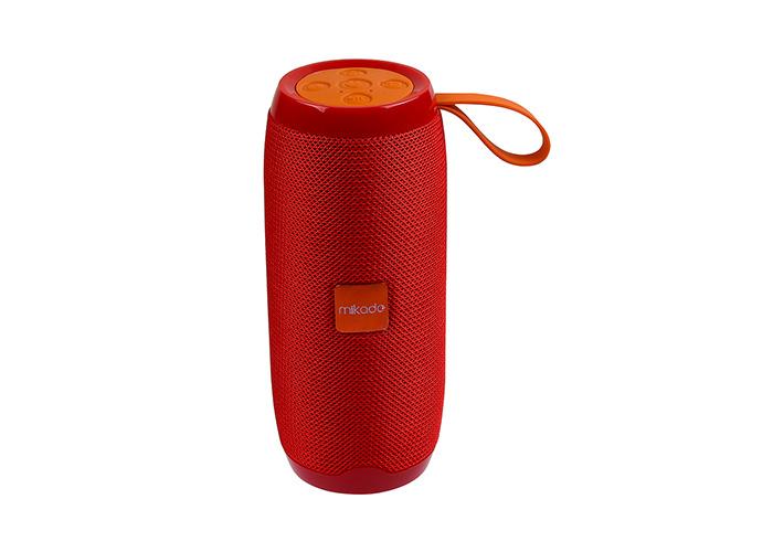 Mikado MD-BT56 Kırmızı Bluetooth-Usb -Aux -TF Card 3.7V 1200mAh Taşınabilir Speaker