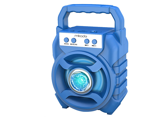Mikado MD-BT65B 5W 800mAh 3.7V Mavi USB/TF Cart / Bluetooth Taşınabilir Speaker