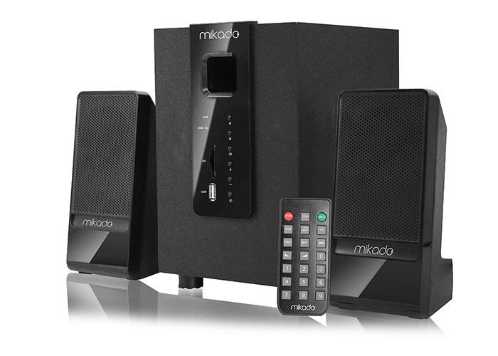 Mikado MD-M100BT 2 + 1 Black Usb + SD + Fm Supported Multimedia Bluetooth Speaker