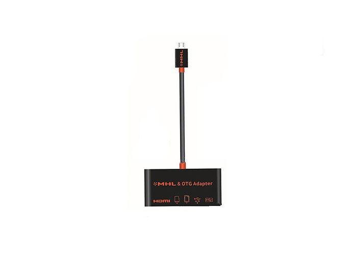 S-link MHL-88 OTG + Card Reader For Galaxy S3 / S4 / S5 / Note2 / 3/4 MHL Inverter Adapter